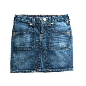 True Religion girls denim skirt size 14